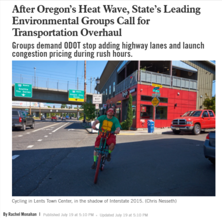Screenshot of headline summarized in body text