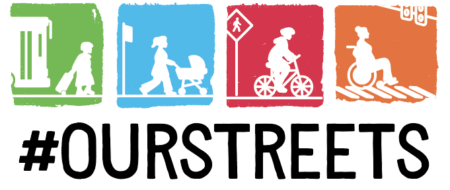 colorful multimodal our streets logo